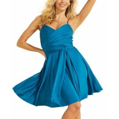 ゲス レディース ワンピース トップス Lysandra Sleeveless Dress GRECIAN BLUE
