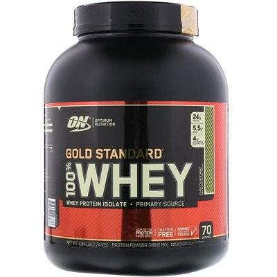 (オプティマムニュートリション)ゴールドスタンダード100%ホエイ・チョコレートミント、4.94ポンド(2.24 kg)