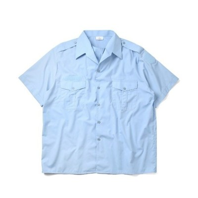 シャツ ブラウス 実物 新品 デッドストック フランス軍 1980's 憲兵隊 ポリスシャツ 半袖