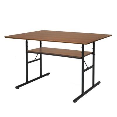 anthem (アンセム) アンティーク調ダイニングテーブル ブラウン ウォルナット天然木化粧板 リビング 幅1200×奥行750×高さ720mmANT-3049BR