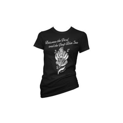 Tシャツ レディース 海外セレクション Women's Pinky Star Between The Devil And The Deep Blue Sea T-Shirt Black/White