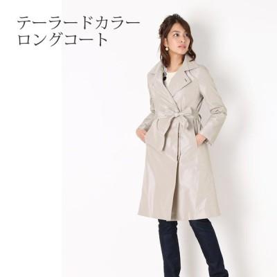 【1点限り】ロングコート ベルト付き レディース