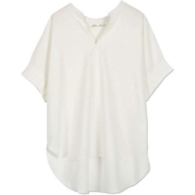 [神戸レタス] スキッパー ドルマン シャツ [C4704] レディース 半袖 ワンサイズ(M) オフホワイト