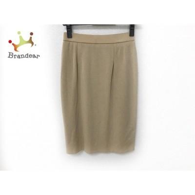 ギャラリービスコンティ GALLERYVISCONTI スカート サイズM レディース 美品 ベージュ ニット       スペシャル特価 20200923