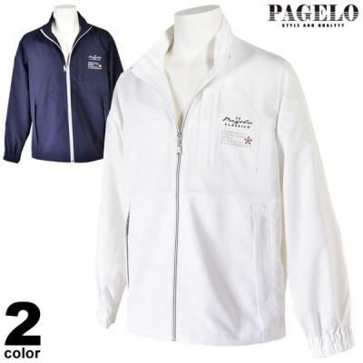 セール 60%OFF PAGELO パジェロ 薄手ブルゾン メンズ 春夏 ジップアップ バックプリント ワッペン 03-3124-07