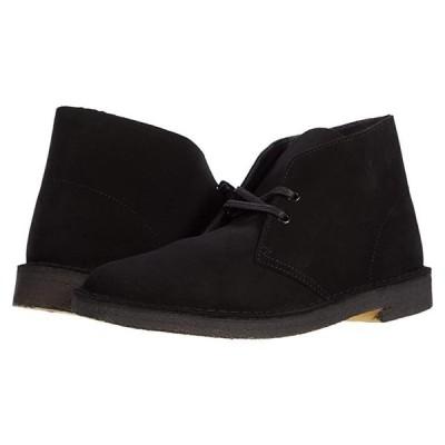 クラークス Desert Boot メンズ ブーツ Black Suede 1