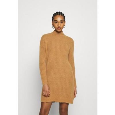 レディース ドレス ONLMEKIA DRESS - Jumper dress - brown melange