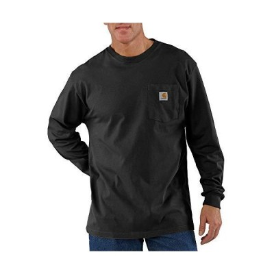 Carhartt メンズ K126 長袖ワークウェア クルーネックTシャツ US サイズ: 5X-Large カラー: ブラック