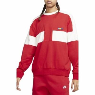 ナイキ NIKE メンズ スウェット・トレーナー トップス Sportswear Reissue Fairlead Oversize Crewneck Sweatshirt Red/Sail/Midnight Na