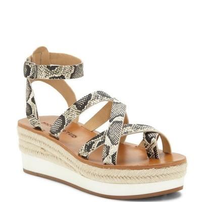 ラッキーブランド レディース サンダル シューズ Jakina Snake Print Platform Wedge Sandals Natural Snake