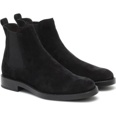トッズ Tod's レディース ブーツ チェルシーブーツ シューズ・靴 Suede Chelsea boots Nero