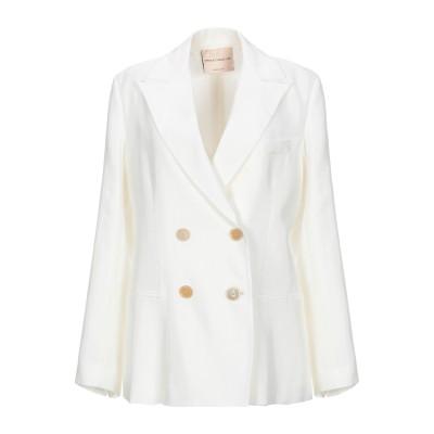 エリカ カヴァリーニ ERIKA CAVALLINI テーラードジャケット ホワイト 42 レーヨン 100% / ポリエステル / アセテート テ