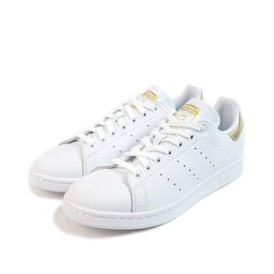 adidas Originals(アディダスオリジナルス) スタンスミス レディース ローカット レザー 3ストライプ ホワイト×ゴールド EE8836
