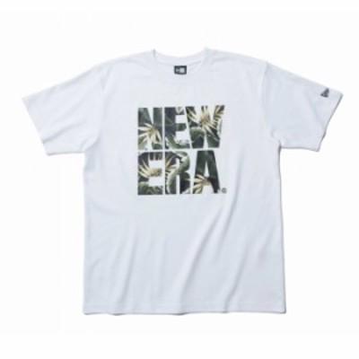 ニューエラ NEW ERA パフォーマンス Tシャツ ボタニカル ビッグニューエラ ホワイト × ネイビーボタニカル 日本正規品
