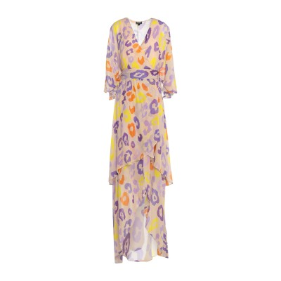 ジャストカヴァリ JUST CAVALLI ロングワンピース&ドレス ベージュ 38 レーヨン 100% ロングワンピース&ドレス