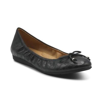 ムーチーズ トゥーチーズ サンダル シューズ レディース Women's Cameo Croco Ballet Flats Black