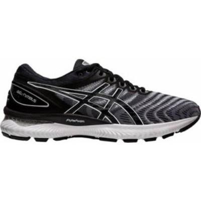 アシックス メンズ スニーカー シューズ ASICS Men's GEL-Nimbus 22 Running Shoes White/Black