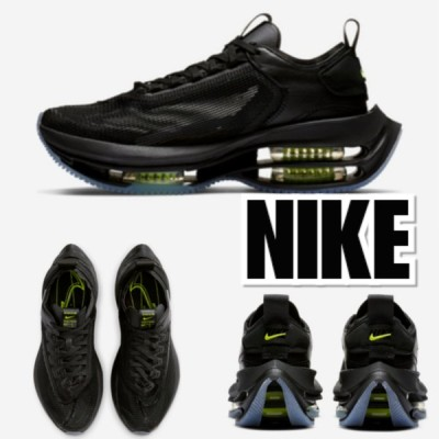 NIKE ナイキ  ZOOM DOUBLE STACKED BLACK/VOLT-BLACK  黒 スニーカー レディース