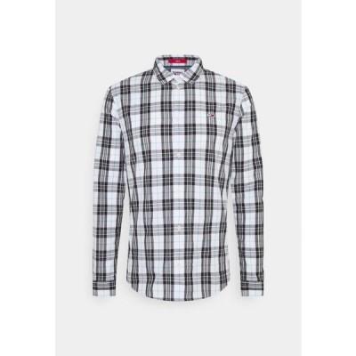 トミージーンズ メンズ ファッション SEASONAL CHECK SHIRT - Shirt - white