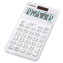 【CASIO】 12位元霧面系列桌上型計算機(JW-200SC-WE)-雪晶白