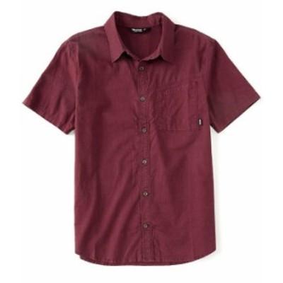 アウトドアリサーチ メンズ シャツ トップス Weisse Performance Short-Sleeve Organic Materials Woven Shirt Burgundy