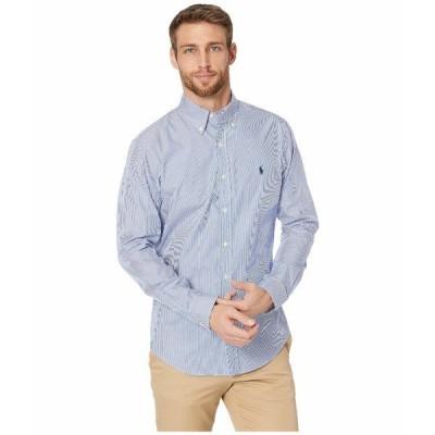 ラルフローレン シャツ トップス メンズ Slim Fit Poplin Sports Shirt Blue/White Hairline Stripe