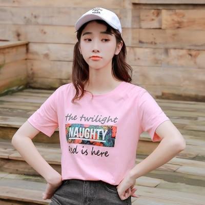 半袖Tシャツ プリント 体型カバー 着痩せ 大きいサイズあり LOGO ロゴ 英字 カレッジ風
