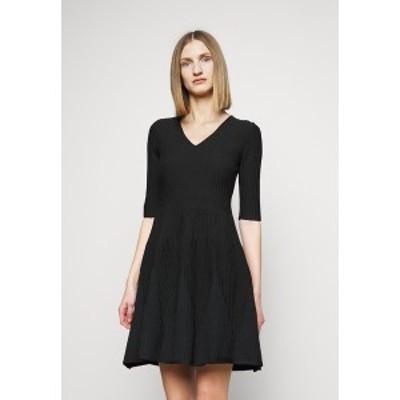 ピンコ レディース ワンピース トップス RIGORE ABITO MISTO - Jumper dress - black black