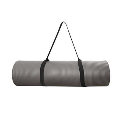 (新品) CAP Barbell MT-6523GY Cap High Density Exercise Mat with Strap, Gray