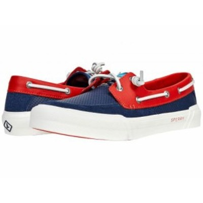 Sperry スペリー レディース 女性用 シューズ 靴 ボートシューズ Soletide Boat Blue/Red【送料無料】