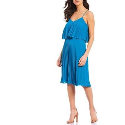 ホルストンヘリテイジ レディース ワンピース トップス Heritage Pleated Popover V-Neck Sleeveless Crepe Dress