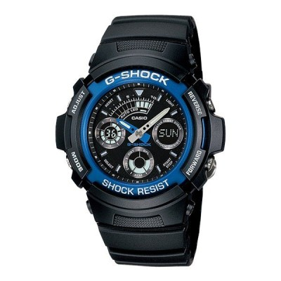 カシオ Gショック メンズ アナデジ ブラック AW-591-2A 腕時計