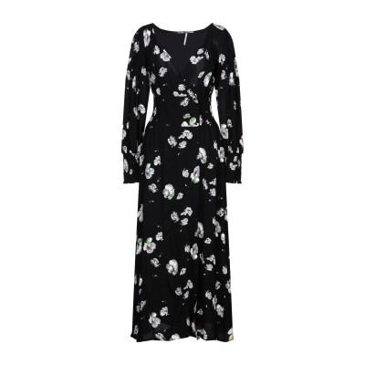 FREE PEOPLE 7分丈ワンピース・ドレス ブラック M レーヨン 100% 7分丈ワンピース・ドレス