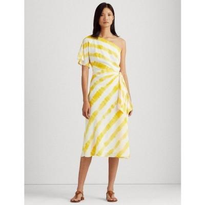 ラルフローレン ワンピース トップス レディース Crepe One-Shoulder Dress Cream/Yellow