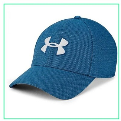 Under Armour Men's Heathered Blitzing 3.0 Cap, Moroccan Blue (487)/White, Large/X-Large