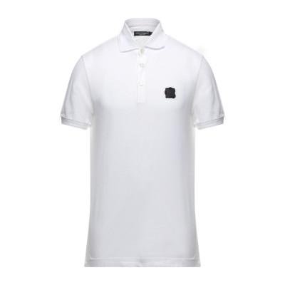 ドルチェ & ガッバーナ DOLCE & GABBANA ポロシャツ ホワイト 46 コットン 100% / ポリ塩化ビニル / ポリウレタン /