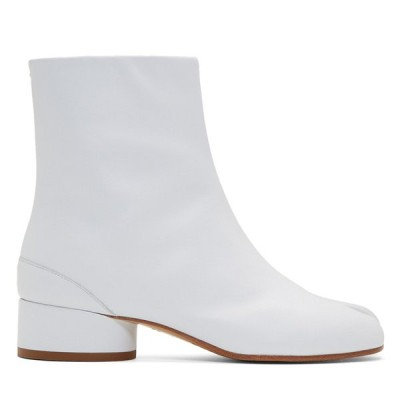 新作SALE♪Maison Margiela メゾンマルジェラ Tabi 足袋 ローヒールカーフレザーブーツ ホワイト