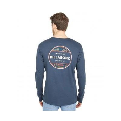 Billabong ビラボン メンズ 男性用 ファッション Tシャツ Rotor Long Sleeve Tee - Navy