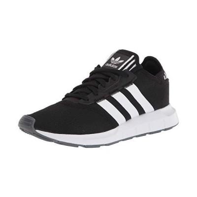 adidas Originals Women's Swift Essential Sneaker, Black/White/Silver, 11