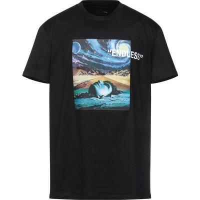 ホワイトオーバー WHITE OVER メンズ Tシャツ トップス T-Shirt Black