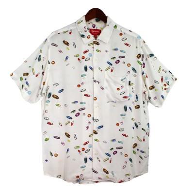 SUPREME 17SS Pills Space Rayon Shirt ピルズレーヨンシャツ ホワイト サイズ:S (吉祥寺店) 200904