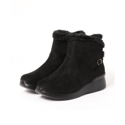 ブーツ 【Alufort】 快適歩行 ファー使い切替ブーツ