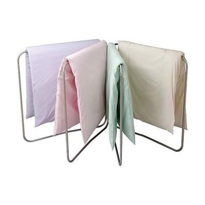 アイリスオーヤマ 洗濯物干し 布団干し ベランダ 物干し 4枚干し 簡単組み立て ステンレス サビにくい 折りた?