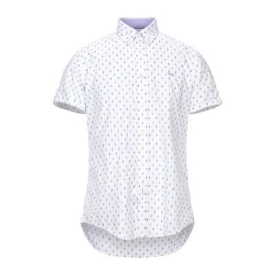 HARMONT&BLAINE 柄入りシャツ  メンズファッション  トップス  シャツ、カジュアルシャツ  長袖 ホワイト