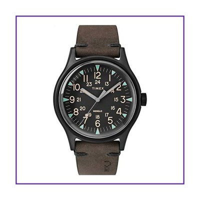 Timex MK1 40 mm Black Stainless Steel Brown Leather Watch TW2R96900 並行輸入品