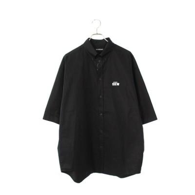 バレンシアガ BALENCIAGA 20AW 622251 TIM39 サイズ:38 CREWロゴオーバーサイズ半袖シャツ 中古 SB01