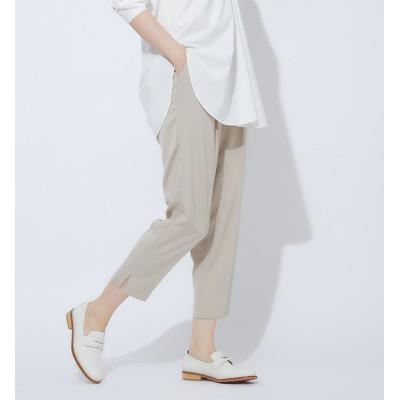 【カリテ/qualite】 【2020秋新色】【WEB限定】バックサテンスリットパンツ