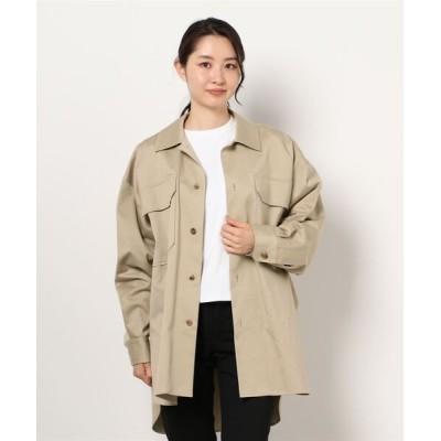 Liesse / 【ATON】シャツジャケット WOMEN ジャケット/アウター > ミリタリージャケット