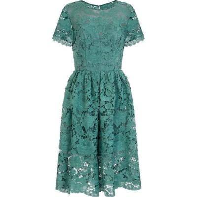 チチ Chi Chi レディース パーティードレス ミドル丈 ワンピース・ドレス Crochet Midi Dress Green