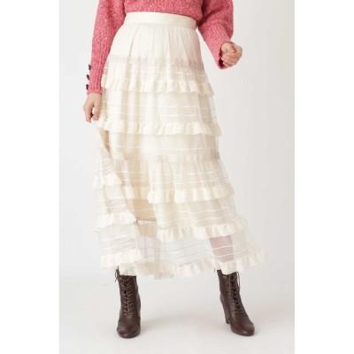 【ジルスチュアート/JILLSTUART】 ◆メロディーティアードスカート